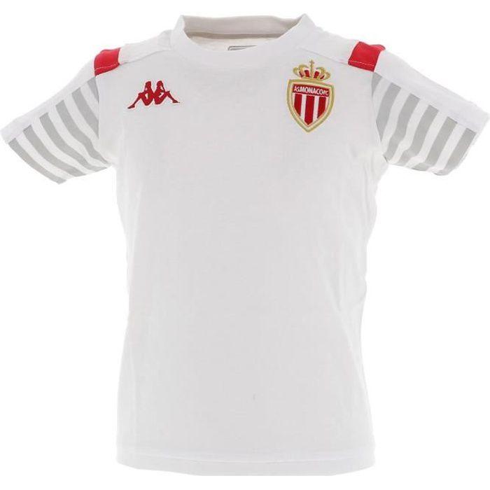 Maillot de football Monaco maillot jr blanc 2019.20 training - Kappa