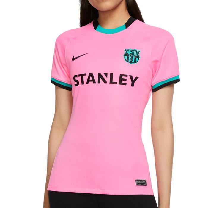 Maillot third femme Barcelone 2020/21 - rose/vert/noir - L
