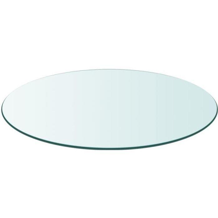 Dessus de table Plateaux de table ronde en verre trempé 300 mm