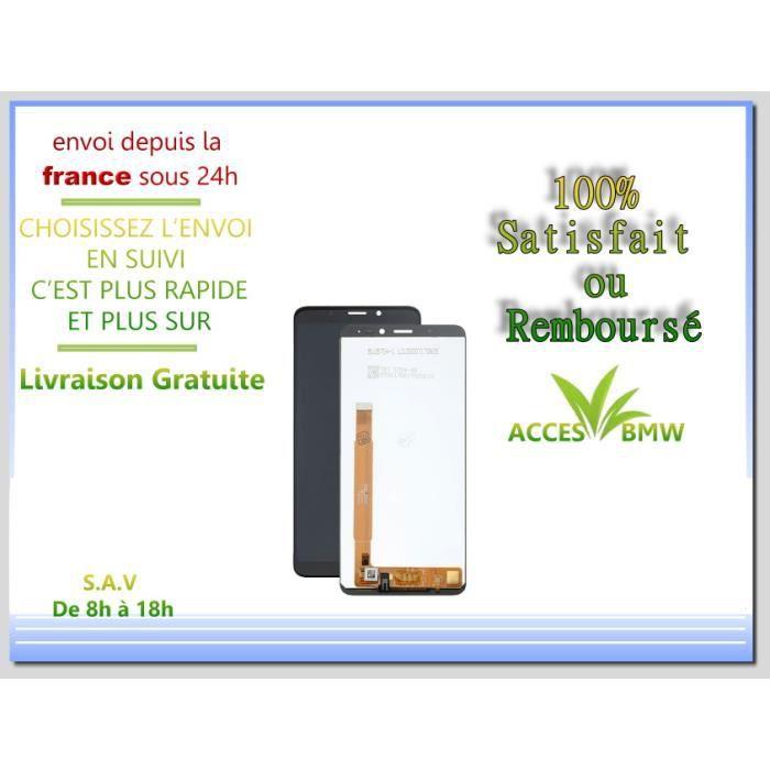 Ecran LCD + Vitre Tactile Wiko Pour View - Noir