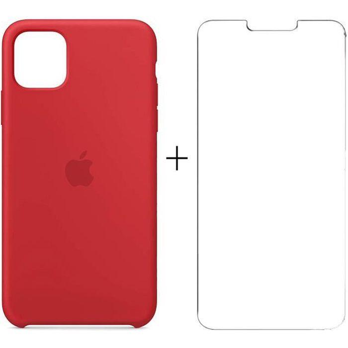 apple coque en silicone pour iphone 11 rouge des s