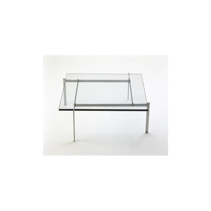 Table basse pk61 carr e en verre 12 mm inspir achat for Table basse verre carree