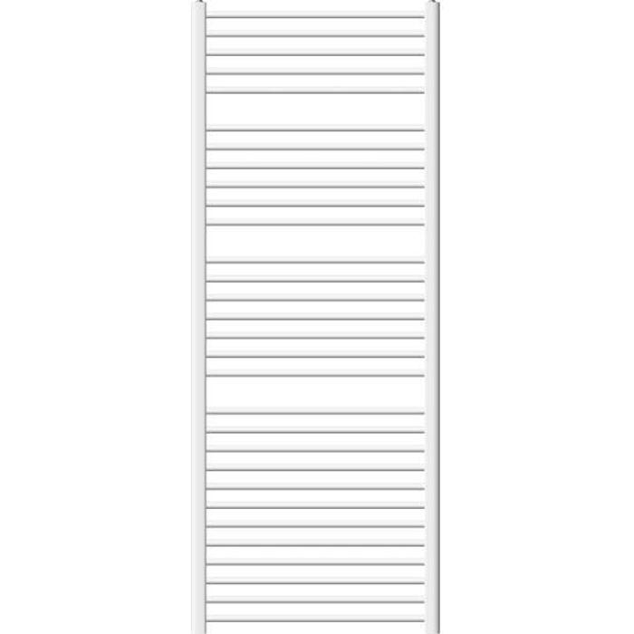 Pas /Électrique 750 x 1800 mm Radiateur S/èche Serviette Salle de Bain ECD Germany Radiateur S/èche-Serviettes Sahara Blanc Courb/é avec Raccordement Lat/éral