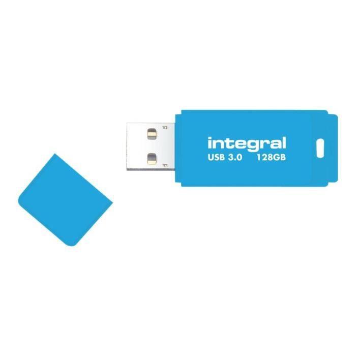 DISQUE DUR SSD Integral Neon Clé USB 128 Go USB 2.0 bleu fluoresc