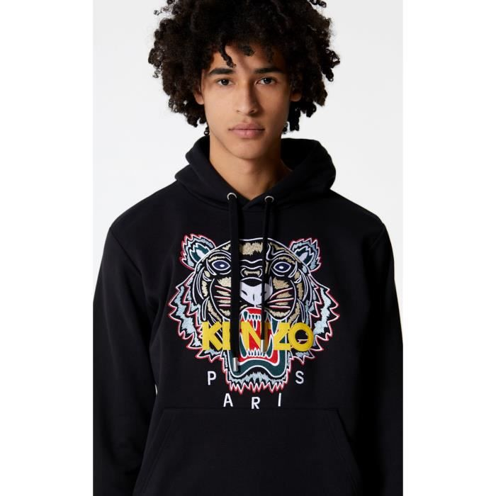 Collection Tigre Noir Capuche nouvelle Sweat Logo Kenzo aXcTgOzqP 298ed2be39c