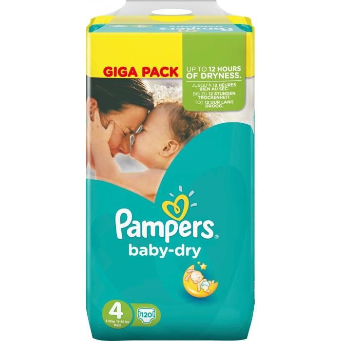 pampers baby dry couches b b taille 4 8 16 kg 120. Black Bedroom Furniture Sets. Home Design Ideas