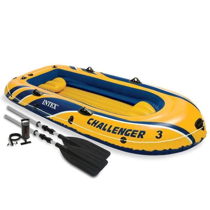 BATEAU PNEUMATIQUE Intex Challenger 3 Ensemble canot pneumatique avec