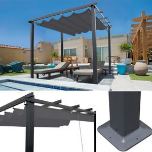 pergola aluminium 4x3m achat vente pas cher cdiscount. Black Bedroom Furniture Sets. Home Design Ideas