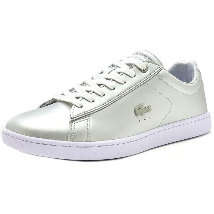 Lacoste Carnaby EVO 118 1 SPW en Light Gris & Blanc 735SPW0006 2Q5 p4B1CwFCe