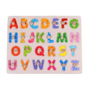 PUZZLE Nouvelle lettre d'animaux en bois Puzzle Early Lea
