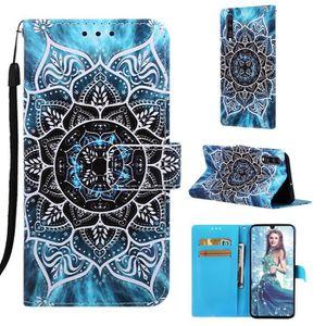 magn/étique Antichoc Folio Housse avec Emplacements de Cartes Leather Case,Blue Leather Housse /Étui en Cuir /à Rabat Portefeuille Wallet Case FindaGift Samsung Galaxy A40 Flip Coque