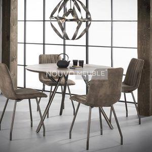 TABLE À MANGER SEULE Table à manger ronde couleur bois TAMPA