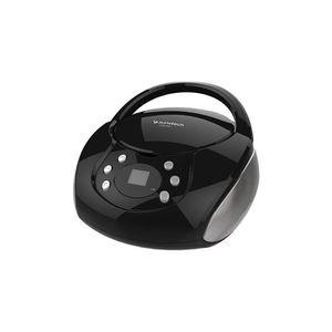 RADIO CD CASSETTE Sunstech crum388–Lecteur CD, Couleur Noir