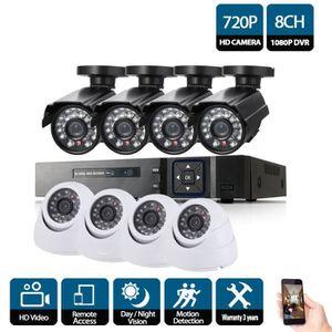 CAMÉRA DE SURVEILLANCE 1080P 720P CCTV Système Enregistreur Vidéo 8PCS 20