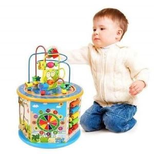 ARDOISE ENFANT Cube d'activité en Bois 8 en 1 Jeu d'éveil Premier