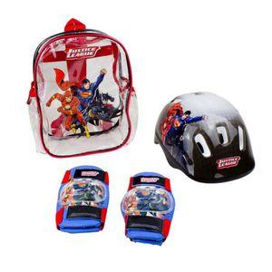 KIT PROTECTION Set de protections + casque DC Comics aille Unique