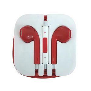 CASQUE - ÉCOUTEURS FengHuang Rouge Écouteurs EarPods pour Apple iPhon