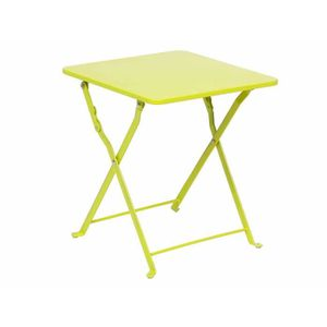TABLE DE JARDIN  Table d'appoint NINDIRI 40 x 40 cm Vert - Hespérid