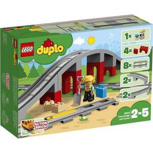 ASSEMBLAGE CONSTRUCTION LEGO® DUPLO®  ville 10872 Les rails et le pont du