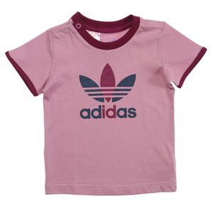 Adidas Originals Tee Shirt Bébé Fille Vieux Rose Prune Et