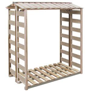 ABRI JARDIN - CHALET Abri de stockage du bois de chauffage 150x100x176c