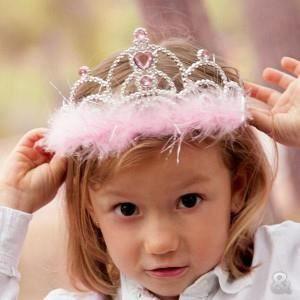 CHAPEAU - PERRUQUE Diadème princesse pour petites filles