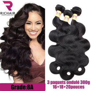 PERRUQUE - POSTICHE RICHAIR 3 tissage bresilien boucle cheveux naturel