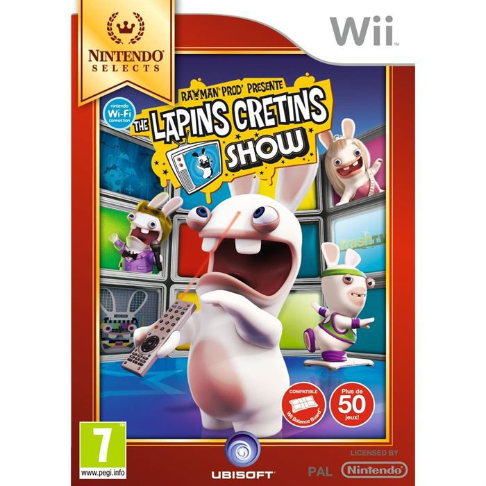 the lapins cretins show edition speciale jeu wii achat vente jeux wii the lapins cretins. Black Bedroom Furniture Sets. Home Design Ideas