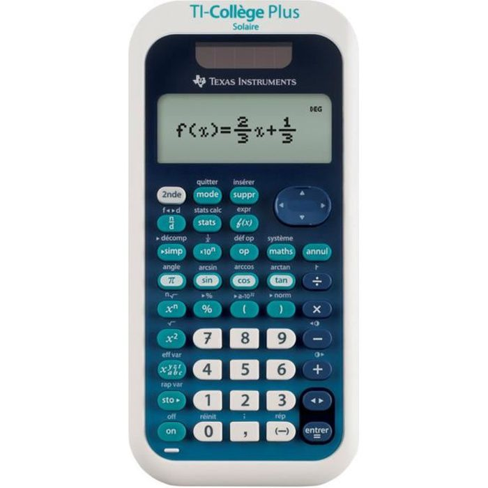 TEXAS INSTRUMENTS Calculatrice Scientifique TI College Plus