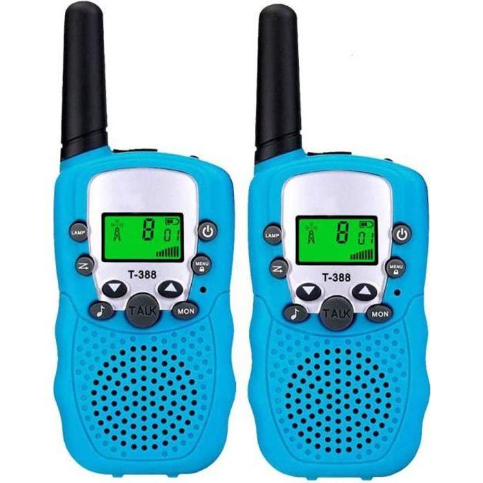 2pcs Talkie Walkie Jouet Enfant Plus de 3 Ans,Talkies Walkies Radio à 2 Voies avec 8 Canaux,Lampe de Poche LCD Cadeau Fête Noël