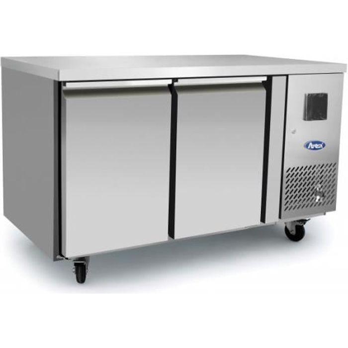 Table Réfrigérée Positive 2 Portes - Profondeur 600 - Atosa - R600A 2 Portes 600