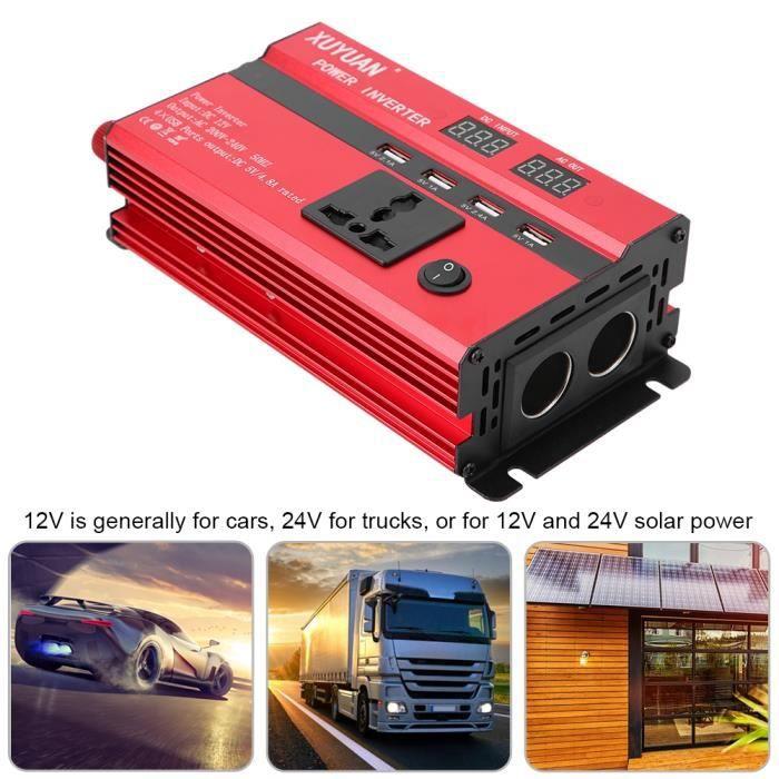 Convertisseur d'énergie solaire voiture d'inverseur puissance élevée DC12 - 24V à CA 220V (12V à 220V, 3000W)-LAT