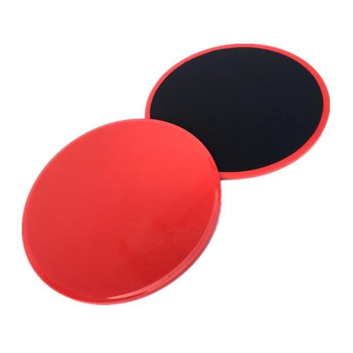 2Pcs Curseurs de base de disques de glisse de forme physique pour des entraînements de jambe d'ABS de gymnase à la maison ke9215