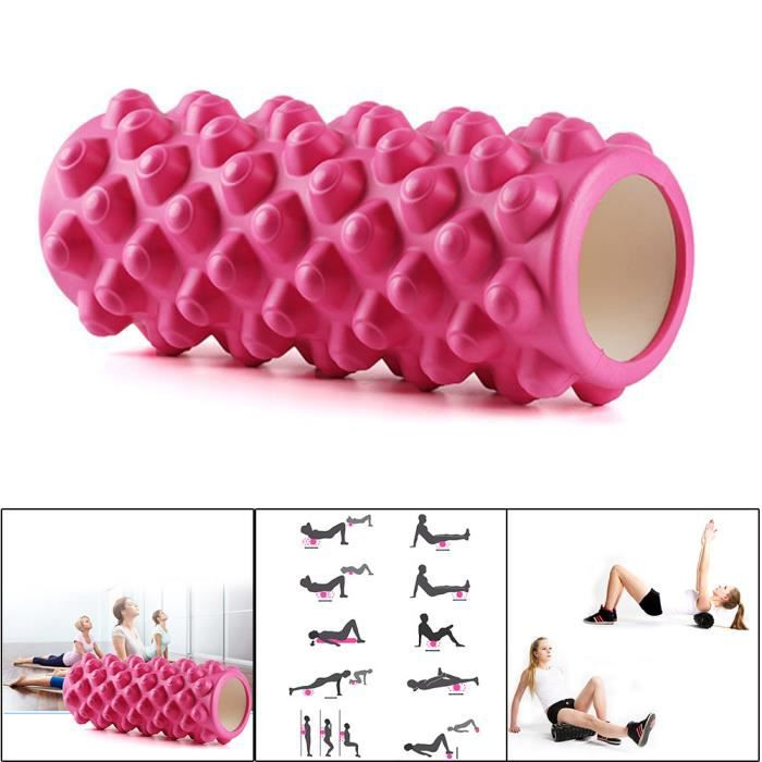 33cm Yoga Pilates Massage Fitness Gym Trigger Point Exercice Rouleau en mousse @aighegd262