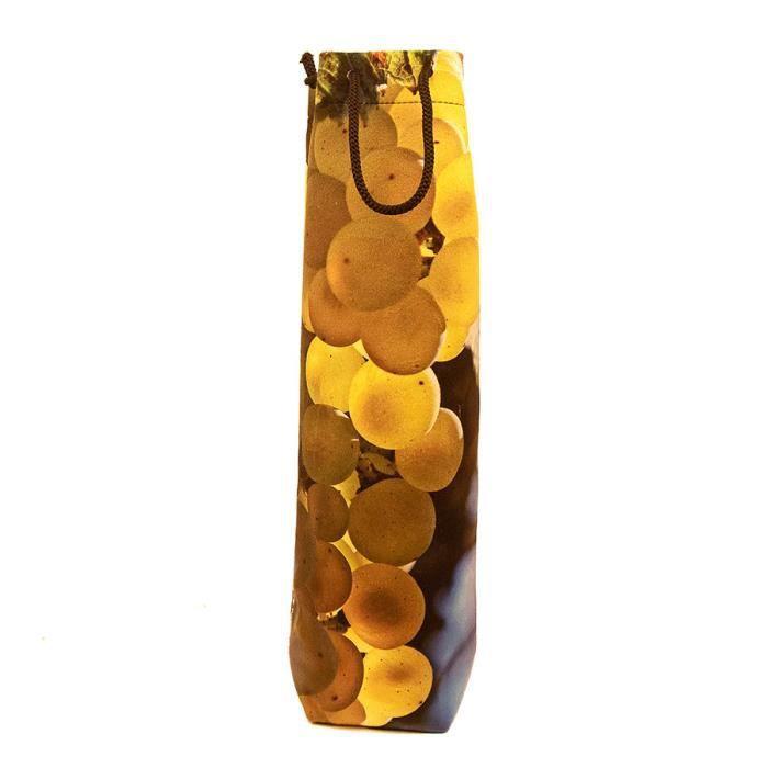 Sac 1 bouteille velours collection vignes - décor 3