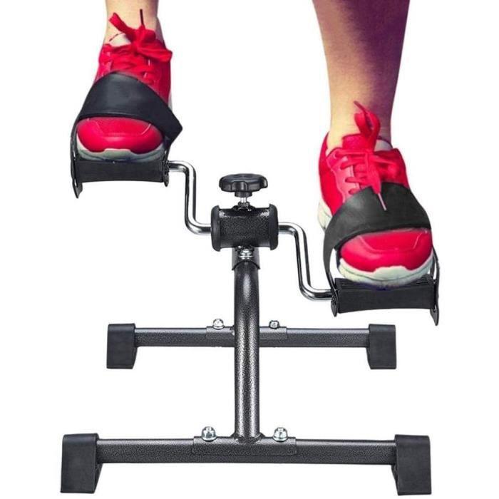FIT BIKE Massage-AED Mini V&eacutelo d'appartement, P&eacutedalier Pliable Fitness Bike Cardio Sport Appareil d'exercice pour L375