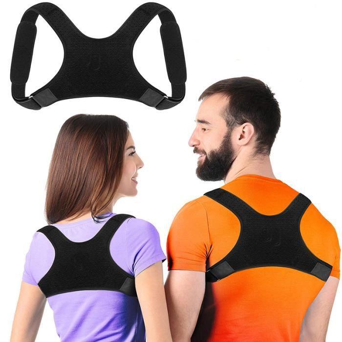 Correcteur de posture du dos réglable, correction de la posture du dos et de l'épaule lombaire, adulte unisexe