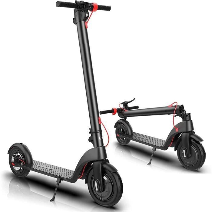 Trottinette électrique adulte, trottinette pliante adulte et jeune, avec pneus démontables 8,5 pouces, moteur 350 watts, batte[338]