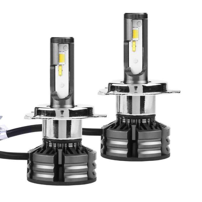 Cuque Phare de voiture 1 paire de kit de phare LED de voiture Super lumineux ampoules de phare clignotant 3000K 4300K 6000K H4