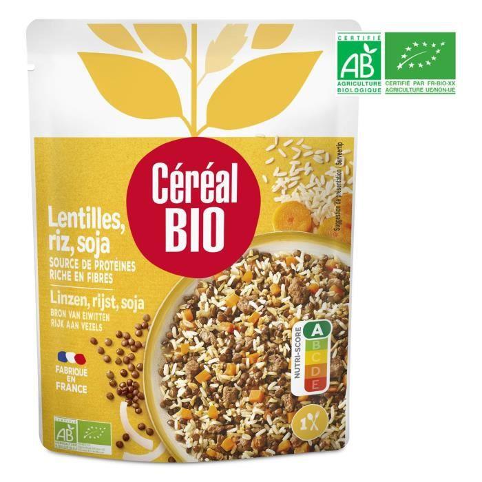 Lentilles, riz et soja bio 250 g Cereal Bio