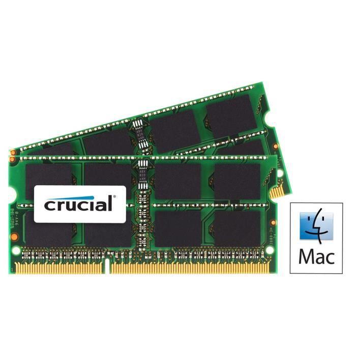 Crucial mémoire kit 16Go Ddr3 1600Mhz