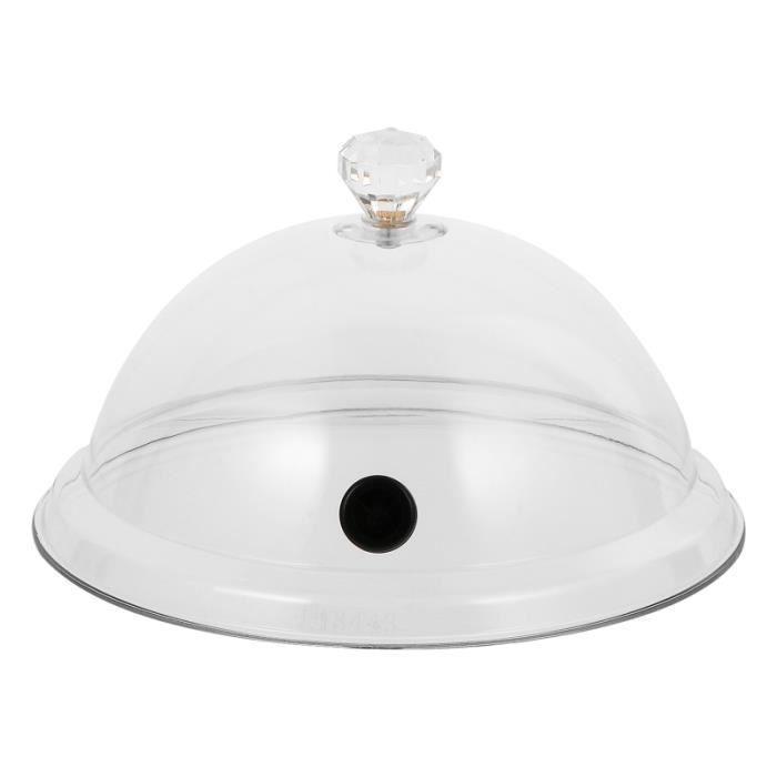 1pc Transparent Smoky Food Cover Cuisine Couvercle de protection des aliments (moyen) filtre pour hotte gros appareil de cuisson
