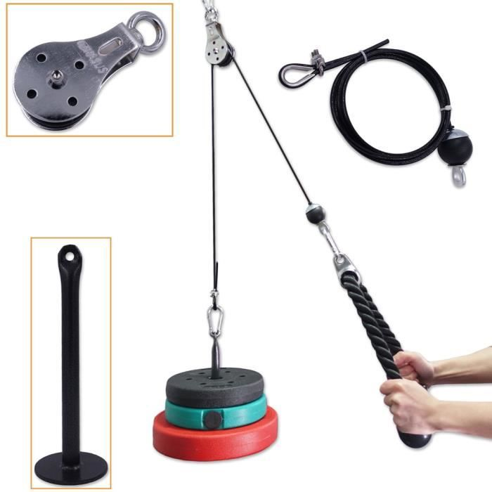 Bandes de Résistance Set Fitness Pulley Cable Lifting Triceps Rope Machine Workout Adjustable Length Gym Sport Accessories