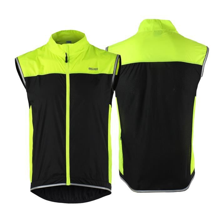 ARSUXEO ultra léger manteau sans manches veste Running vélo vélo Veste Coupe-vent-52