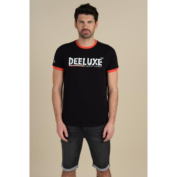 DEELUXE T-shirt manches courtes avec logo ALEC Black