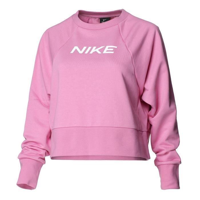 NIKE Sweat de Fitness Dry Get Fit Fc Cw Cp El G - Femme - Rose