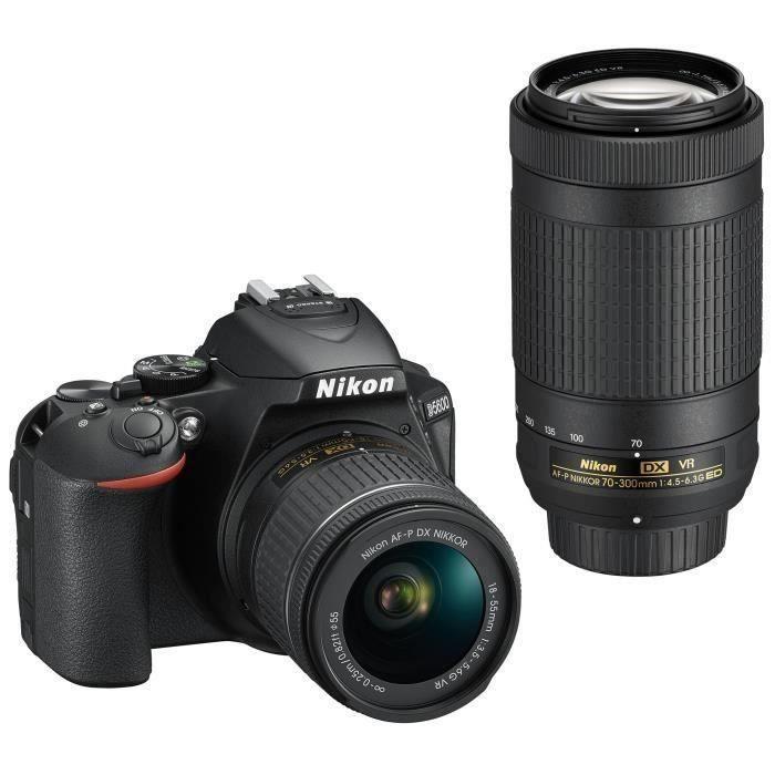 Pack Expert : NIKON D5600 + 2 Objectifs AF-P 18-55 VR + AF-P 70-300 VR