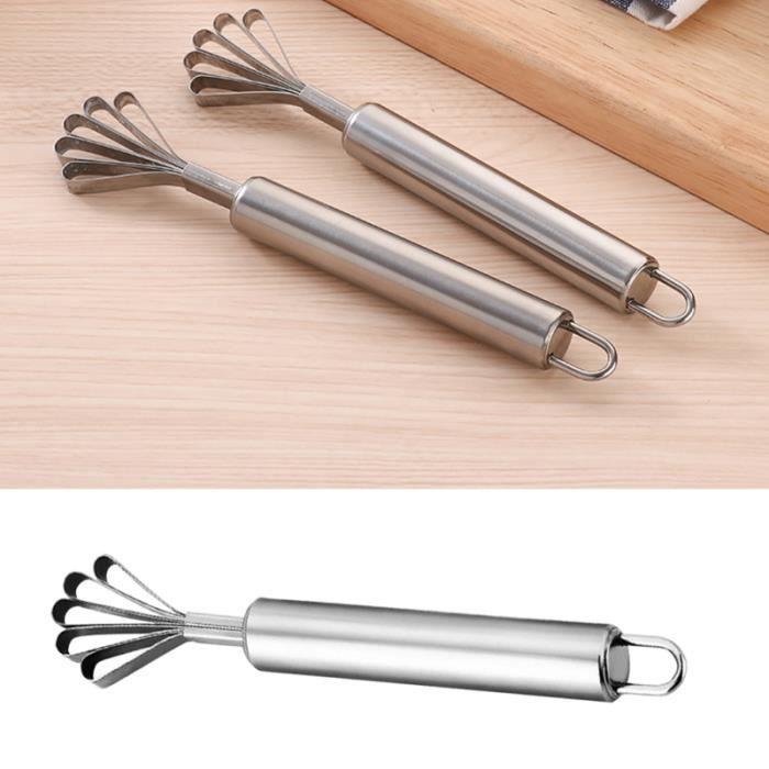 2 pièces rasoir de noix de coco en acier inoxydable Portable éplucheur de cuisine outil de nettoyage de  ECAILLEUR A POISSON