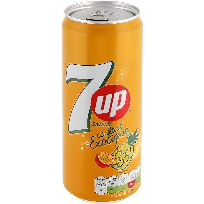 Seven up (7up) Exotique Tropical Pack de 33 cl x 24