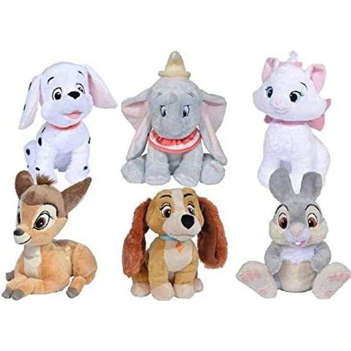 Simba Dickie 6315876187 Disney Classique Amis Peluche, Multicolore